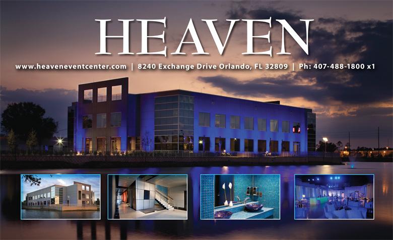 Heaven Event Center 8240 Exchange Dr, Orlando, FL 32809 (407) 488-1800